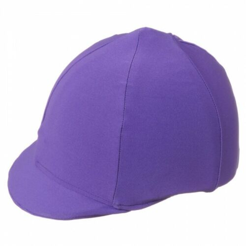 HORSE RIDING STRETCH HELMET COVER IN PURPLE