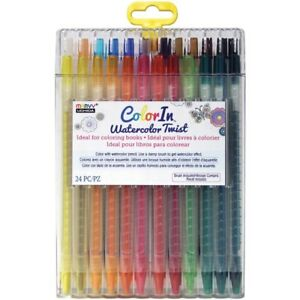 24 colorin twist pencils color then paint w damp brush for