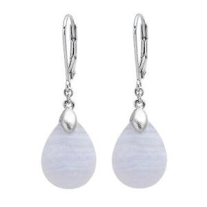 Ohrhaenger-echt-Silber-925-Sterling-mit-Streifen-Chalcedon-Damen-Ohrringe-3-7-cm