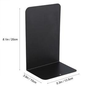 1-Pair-of-Black-Metal-Bookends-Iron-Support-Holder-Desk-Stand-For-Books
