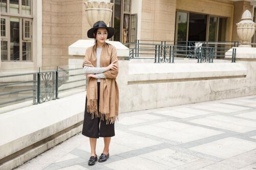 New Women Ladies Winter Warm Solid Pashmina Cashmere Gift Long Shawl Wrap Scarf