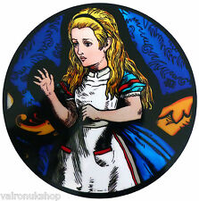 STAINED GLASS WINDOW ART STATIC CLING ALICE IN WONDERLAND - ALICE