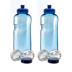 mit Push Pull 2 x 0,5L Trinkflasche Wasserflasche aus Tritan Bisphenol A frei