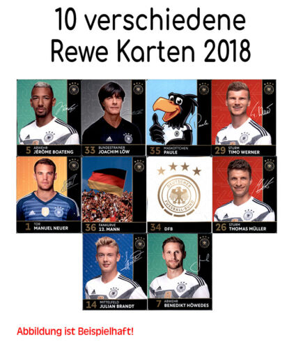 Coupe du Monde World Cup la Russie 2018 REWE cartes de collection 10 cartes différentes