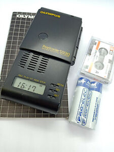 Olympus-S930-MicroCassette-Pearlcorder-Voice-Recorder-Dictaphone-Dictation-Black
