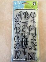 Inkadinkado Clear Acrylic Alphabet Stamps Coffee House Alpha 97731