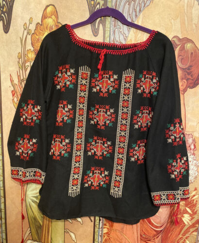 Vintage Ethnic Polish Ukranian Hungarian Folk Flor