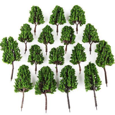 16 Lot MODEL Green PINE TREE for Railroad House Park Scenery Landscape HO SCALE