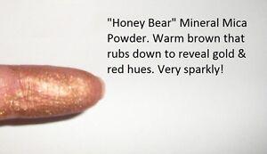 034-Honey-Bear-034-Mineral-Mica-Powder-Eye-Shadow-Warm-brown-w-gold-amp-red-Vegan