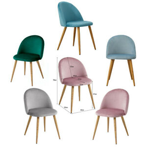 Samt Stuhl Polsterstuhl Shell Esszimmerstuhl Stuhle Rosa