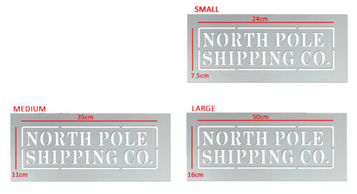 Reusable Paint North Pole Shipping Co Stencil Christmas Box Crate Sack Stencil