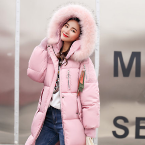 Thicken Bomuld Lange Collar Kvinders Medium Coat Massiv Polstret C631 Farve Fur Faux XYqUY
