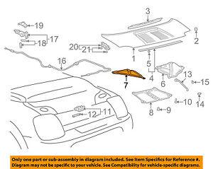 [DIAGRAM_34OR]  TOYOTA OEM 00-05 MR2 Spyder Engine Lid-Insulator Left 5334217010 | eBay | 1991 Mr2 Engine Diagram |  | eBay