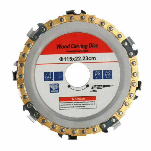 """4.5/""""// 5/"""" Angle Grinder Disc Chain Link Saw Blade for Wood Carving Cutting Tool *"""