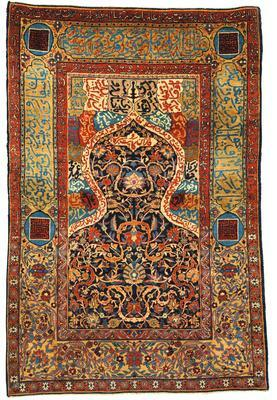 A KASHAN PRAYER RUG, CENTRAL PERSIA |