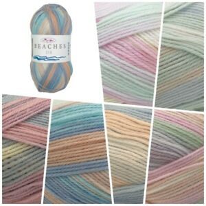 King-Cole-Beaches-DK-Summer-Pastel-Variegated-Acrylic-Knitting-Wool-Yarn-100g