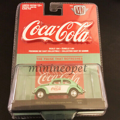 M2 52500 GG01 COCA COLA COKE 1953 VW BEETLE DELUXE EUROPEAN 1//64 GREEN WHITE
