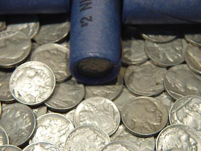 Old Full Date Indian Head Buffalo Nickel 40 Coin Mixed Date Shotgun Roll