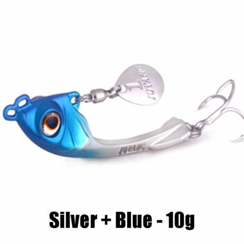 7.5g//10g//15g Alloy Jig Metal Slice Fishing Lures Spinning Baits Lead Casting