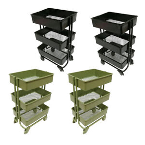 4pcs Modern 1/12 3 Tier Storage Shelf for Dollhouse Furniture Accs Black&Green
