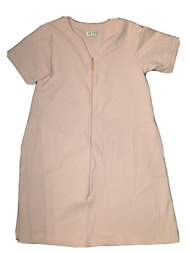 Baby Pink Dress Robe Soft Lounge Cotton Blend Gown