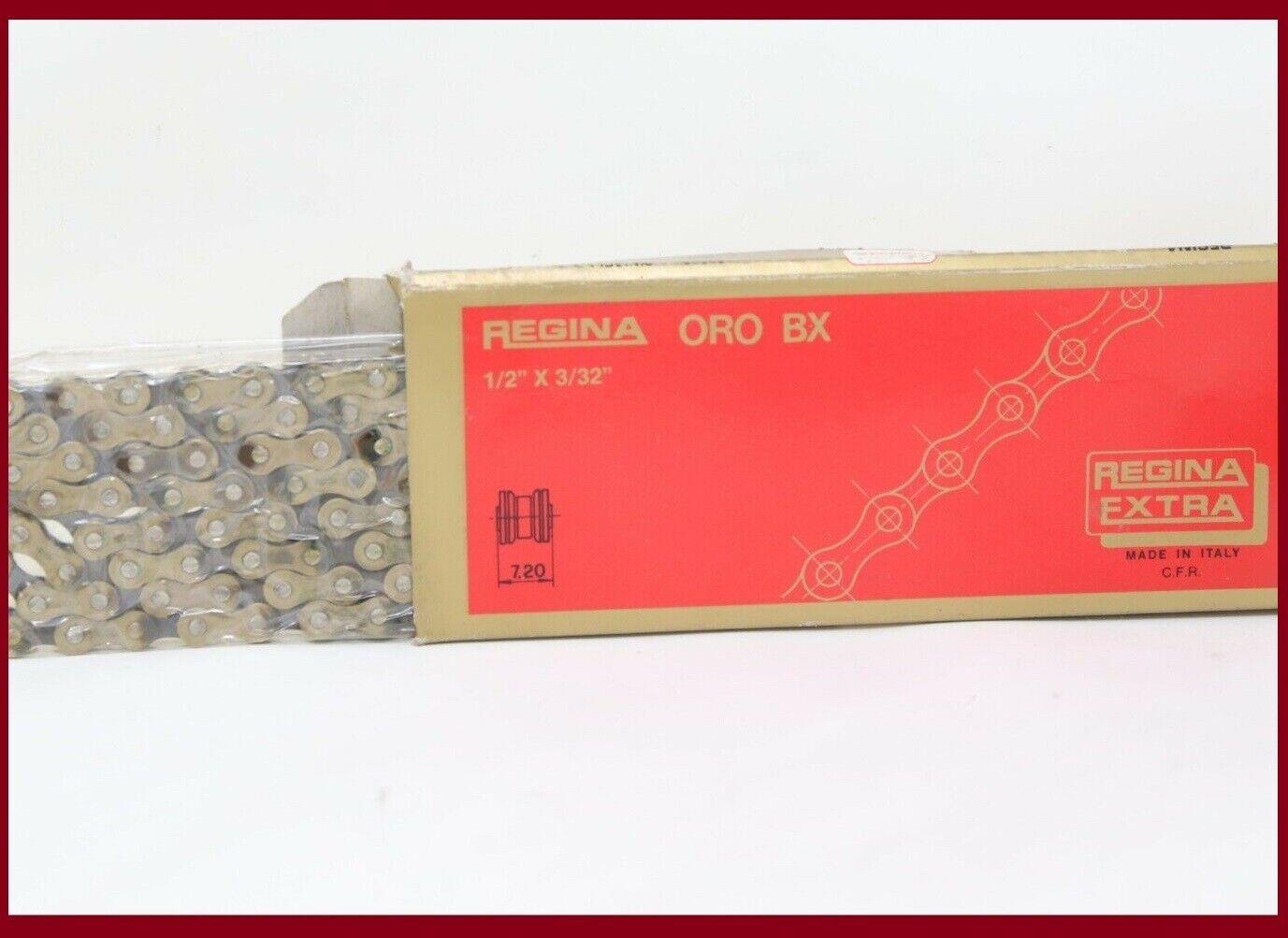 Nos Regina oro BX extra Vintage Cadena de oro 50th súper RECORD DE CAMPAGNOLO 7 velocidades