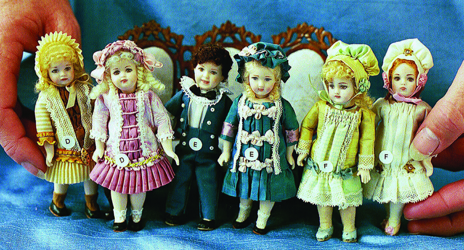 4  Reproduction Antique Doll Molds by Doreen Sinnett