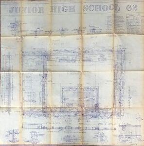 Original blueprint ditmas junior high school jhs 62 kensington image is loading original blueprint ditmas junior high school jhs 62 malvernweather Image collections