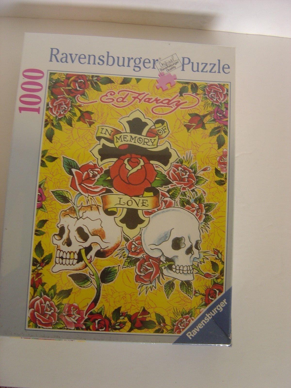 Ravensburger Puzzle Puzzles Ed Hardy Memory of love skulls roses tattoo tribal