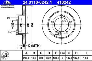 ATE 24.0110-0242.1 Bremsscheibe 2 Stück