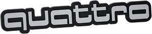 Auto-3D-Relief-Schild-quattro-Emblem-silbergrau-14-cm-HR-Art-14844-selbstklebend