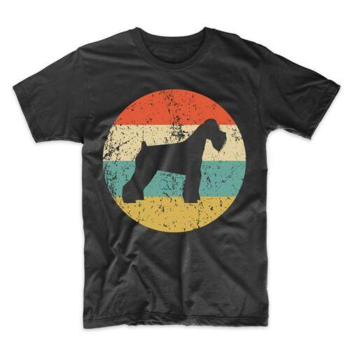 Vintage Retro Schnauzer T-Shirt Dog Silhouette Icon Shirt Schnauzer Shirt