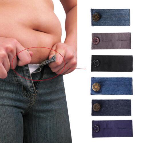 2X Unisex Waist Band Tight Trousers Jeans Skirts Maternity Pant Extender Belt UK