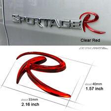 "Detailpart Logo ""R"" Car 3D Emblem clear red for KIA Sportage & Sorento & Sedona"