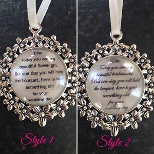 Simple Bridal Bouquet Charme Personlised Cadeau De Mariage, Fleur Fille, Demoiselle D'honneur, Demoiselle-afficher Le Titre D'origine