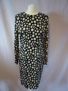 Whistles-Junya-Bodycon-Dress-in-Spot-Print-Back-white-size-14