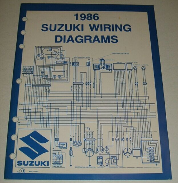 1986 Suzuki Wiring Diagram Manual Gsxr Dr Vs Gs 125 450