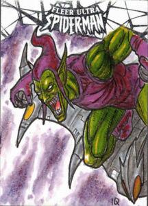 2017-Fleer-Ultra-Spider-Man-Green-Goblin-Marvel-Ian-Quirante-1-1-Sketch-Card