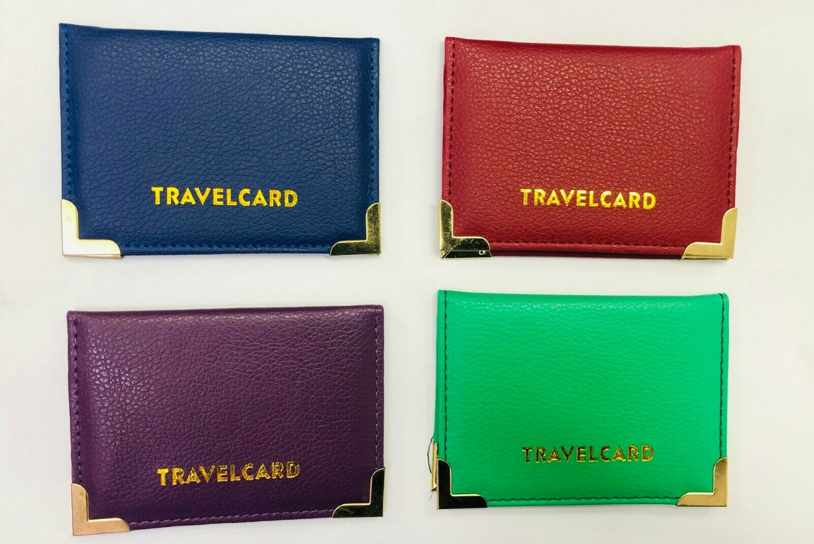 2 pcs Genuine Oyster Travel Card Bus Pass Rail Card Holder Wallet Cover Case UK