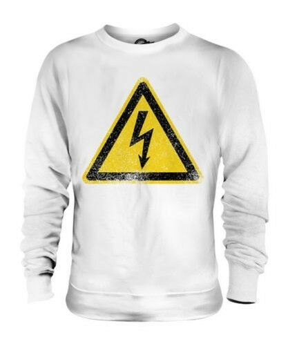 HIGH VOLTAGE SIGN UNISEX SWEATER TOP GIFT ROAD SIGN WARNING