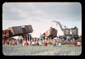1959-CN-Canadian-National-Railway-Train-Wreck-Udney-ON-35mm-Private-Slide-10