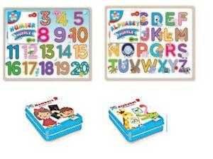 Alphabet numéro Puzzle & CARTES JEU APPRENDRE Lettres enfants jouet éducatif Nursery  </span>