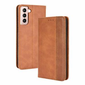 Etui pour Samsung Galaxy S21 (SM-G991) marron Etui Housse Pochette