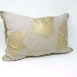 Pleasant Details About Pier1 Imports Pierone Gold Leaf Block Print Decorative Throw Pillow Cushion Onthecornerstone Fun Painted Chair Ideas Images Onthecornerstoneorg
