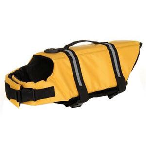 Hunde-Schwimmweste-Rettungsweste-Sicherheitsweste-gelb-Gr-XXL-3383