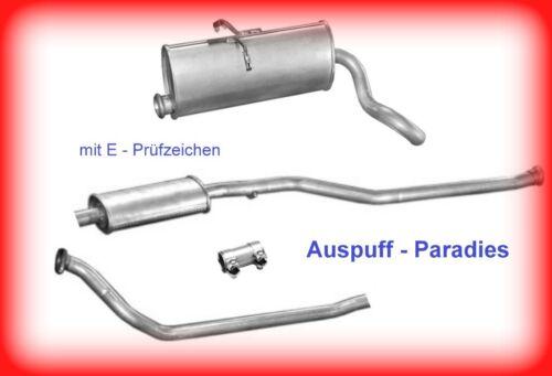 Auspuffanlage Auspuff Citroën Berlingo 1.8 Diesel /& 1.9 Diesel ohne Katalysator