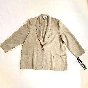 NWT NEW Women's Diane Richard made in USA Business Jacket 1 Button Blazer 20W