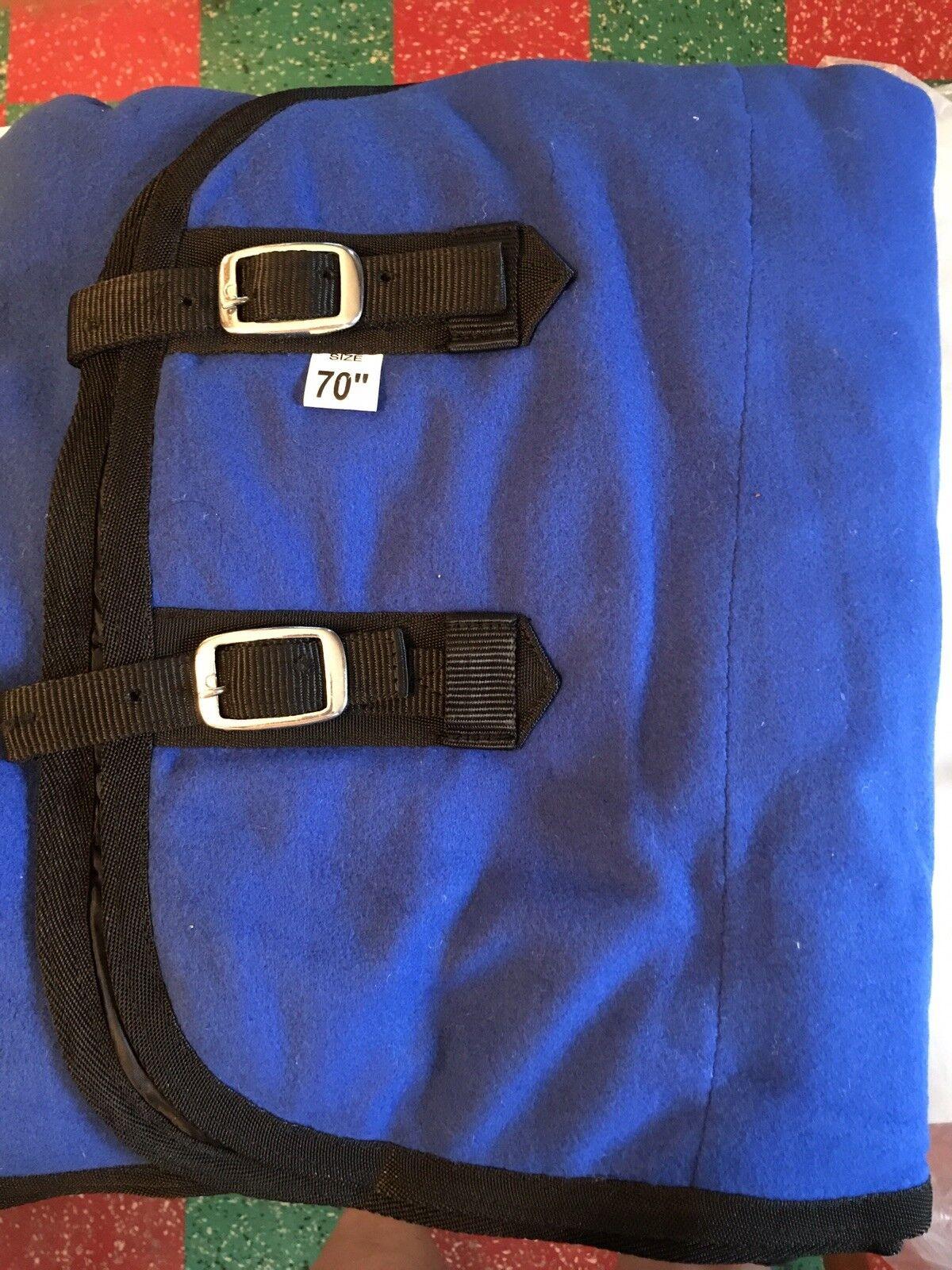 Fleece Horse  Blanket, bluee, 70