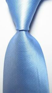 New-Classic-Checks-Light-Blue-JACQUARD-WOVEN-100-Silk-Men-039-s-Tie-Necktie