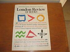 2010 London Review, Chris Hitchens, Graham, Sonnets, Raine, B.E. Ellis, Carthage